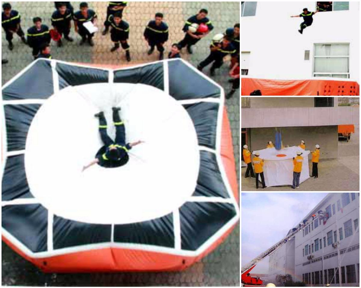Khi có thang, đệm của lực lượng phòng cháy chữa cháy, cứu hộ cứu nạn đến và được yêu cầu, bạn mới nhảy xuống.