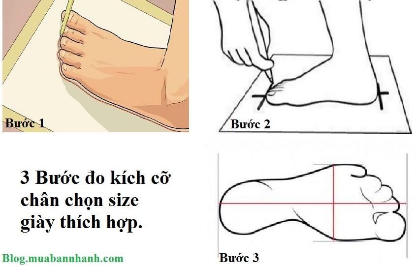 3 bước đo kích cỡ chân chọn size giày thích hợp