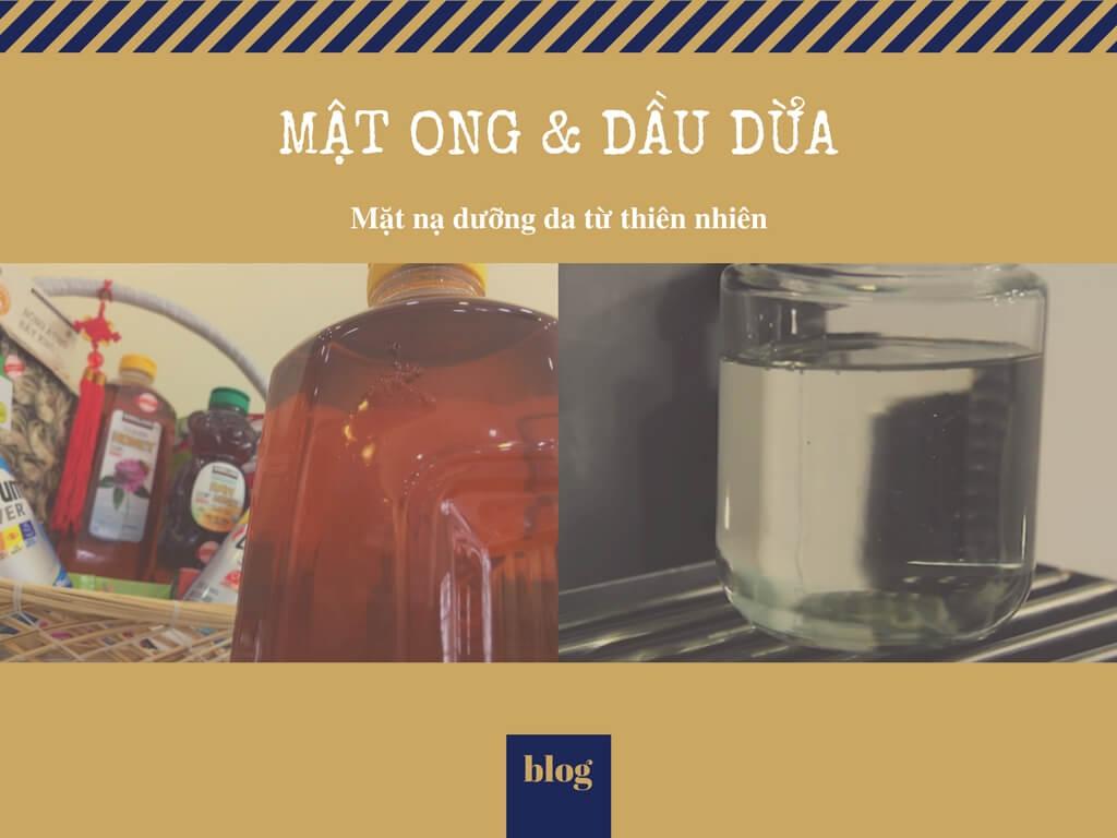 Mật ong & dầu dừa - mặt nạ dưỡng da từ thiên nhiên