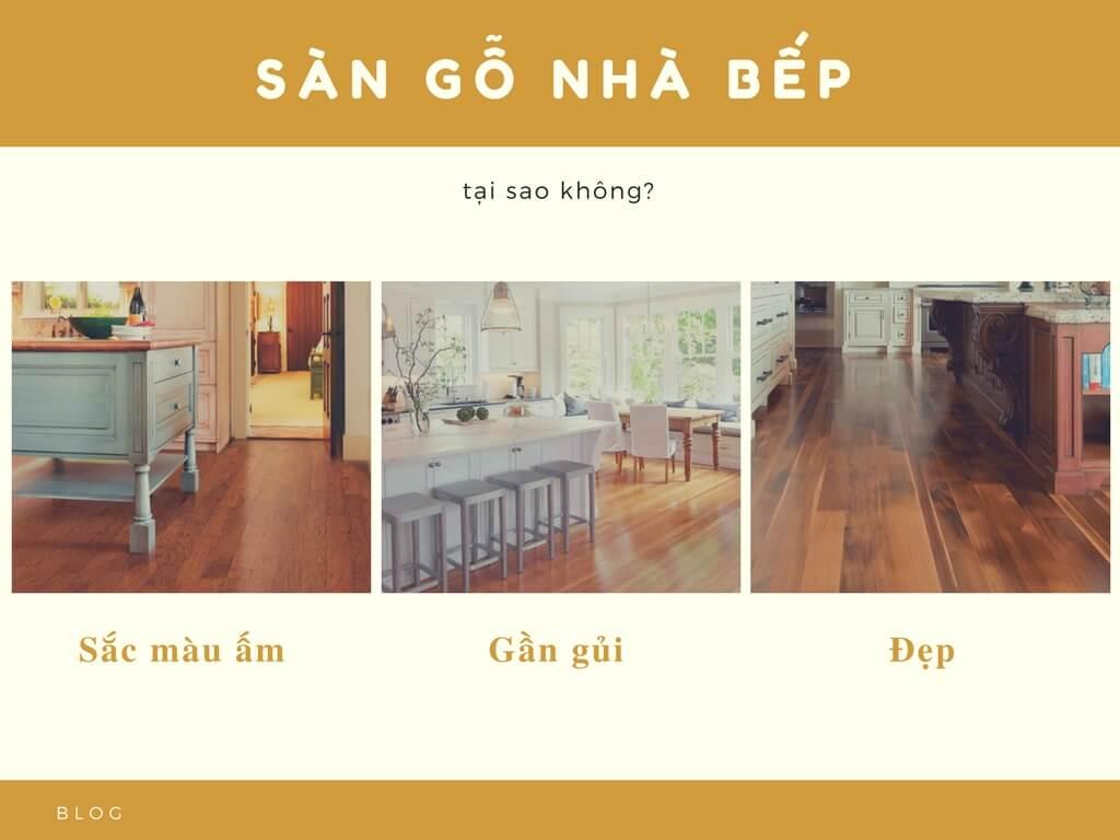 Có nên lắp sàn gỗ nhà bếp hay không?