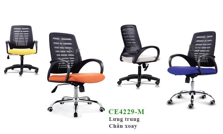 Ghế văn phòng chân xoay chất lượng tốt giá rẻ TPHCM - Nội thất Furni JSC