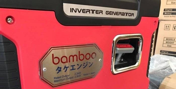 Thông số kỹ thuật máy phát điện xách tay chống ồn 2,5kw Bamboo 25i