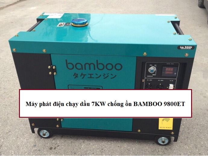 Đánh giá máy phát điện chạy dầu 7kw chống ồn Bamboo 9800ET