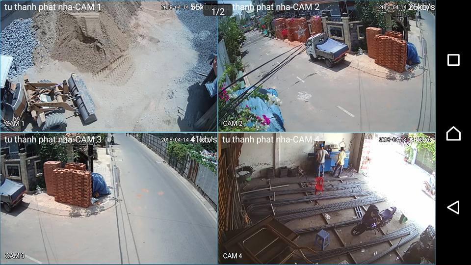 Hình ảnh thực tế lắp đặt trọn bộ camera quan sát tại Bình Dương
