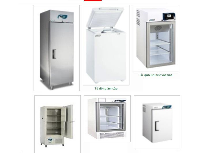 Tủ lạnh bảo quản máu dùng trong y tế