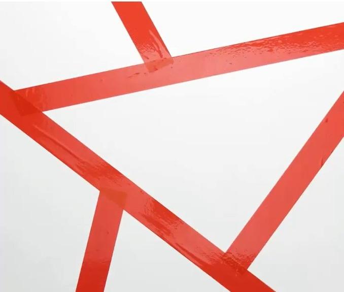 Bức tường với những hình tam giác sắc màu(1)