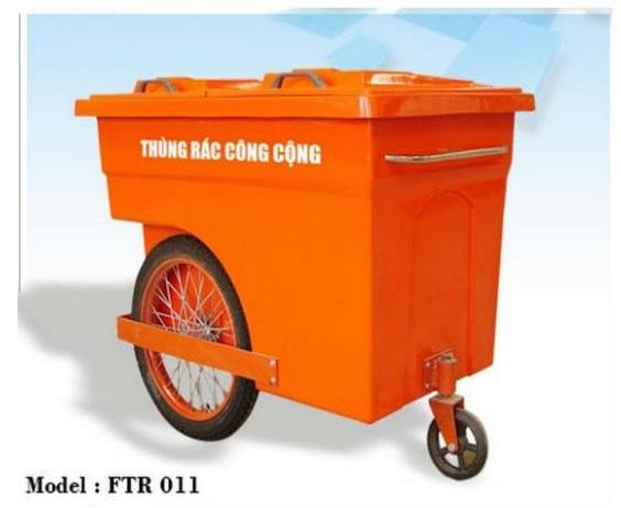 Xe đẩy rác 660l loại 4 bánh hoặc 3 bánh
