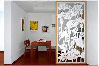 Vách ngăn trang trí phòng khách và bếp(2)