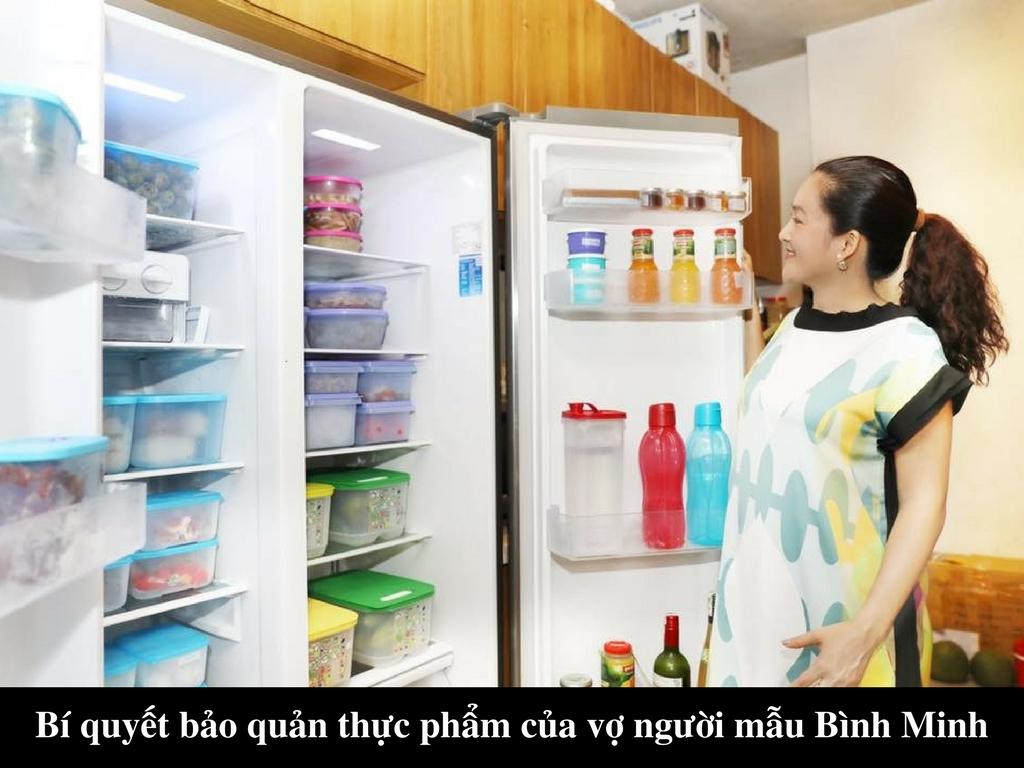 Bí quyết bảo quản thực phẩm của vợ người mẫu Bình Minh