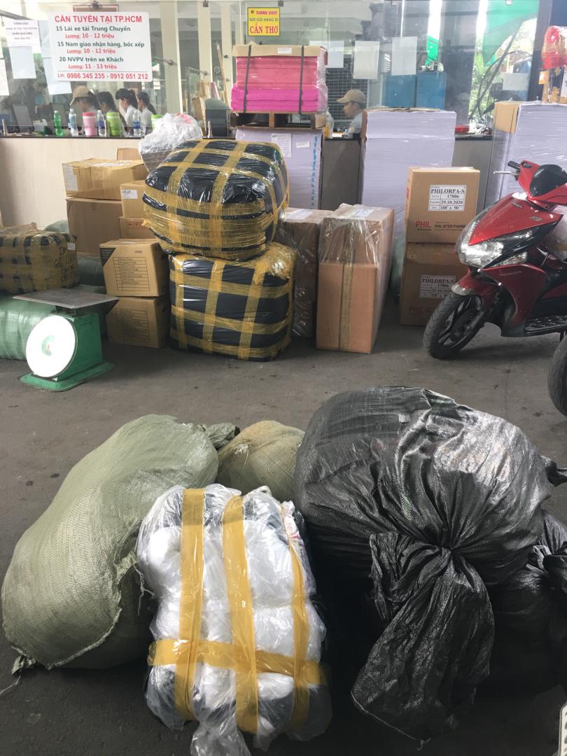 Đơn hàng giao chăn drap gối nệm cho Nhật Tân Hotel Đà Lạt