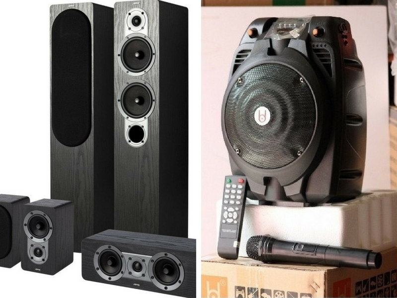 So sánh giữa loa di động karaoke và bộ loa thường