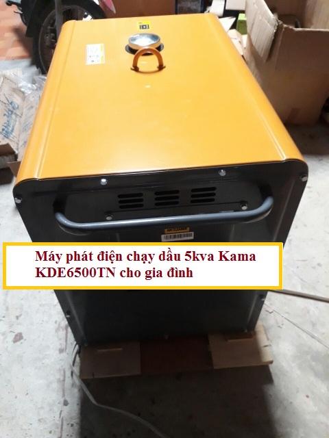 Máy phát điện chạy dầu 5kva Kama KDE6500TN cho gia đình