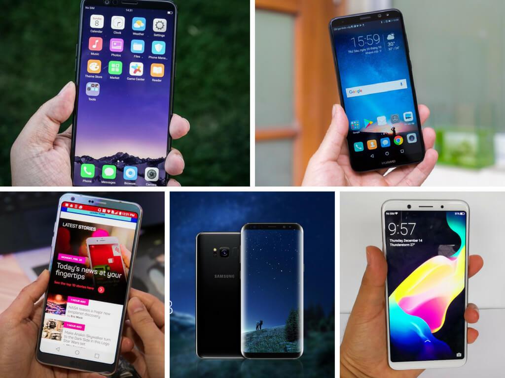 Top 5 smartphone có tỉ lệ màn hình 18:9