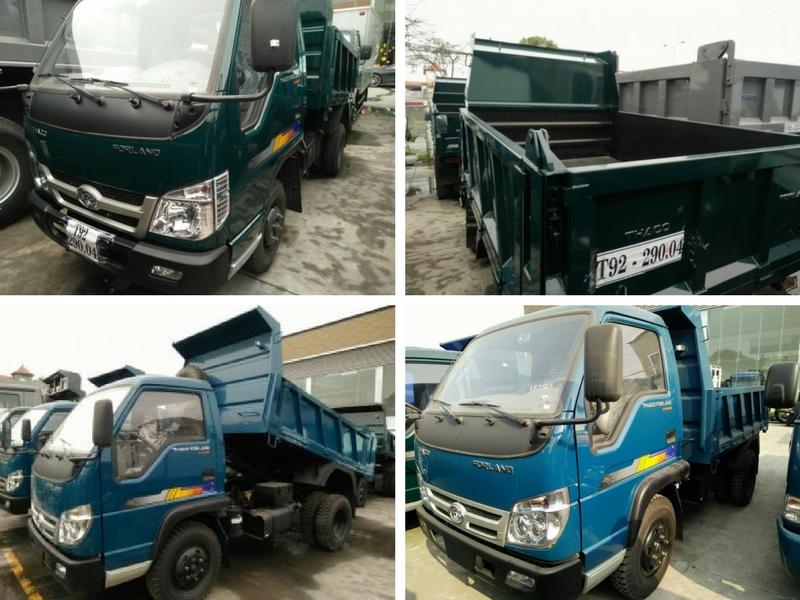 Thông số kỹ thuật, hình ảnh xe ben Thaco Fordland FLD 345 3 tấn 5 (3,5 tấn)